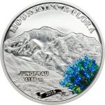 Palau - 2016 - 5 Dollars - Mountains and Flora JUNGFRAU (including box) (PROOF)