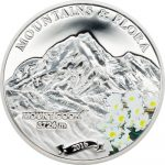 Palau - 2016 - 5 Dollars - Mountains and Flora MOUNT COOK (including box) (PROOF)