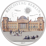 Palau - 2017 - 5 Dollars - World of Wonders REICHSTAG BERLIN (PROOF)