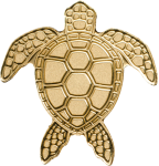 Palau - 2017 - 1 Dollar - Golden Sea Turtle small gold