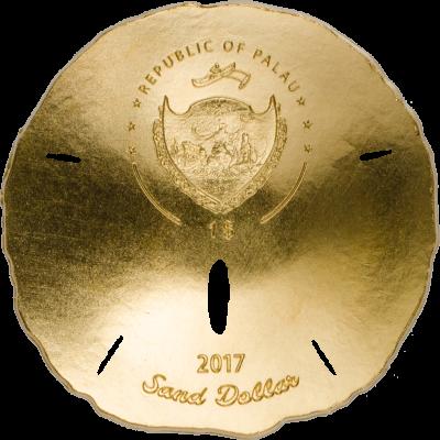 Palau - 2017 - 1 Dollar - Sand Dollar (small gold)
