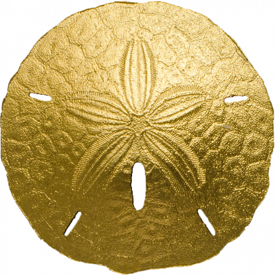 Palau - 2017 - 1 Dollar - Sand Dollar (small gold)