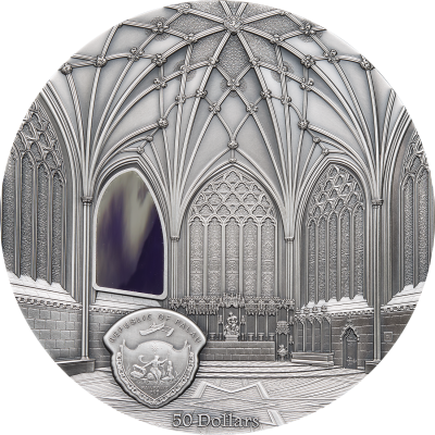 Palau - 2017 - 50 Dollars - Tiffany Art Wells Cathedral