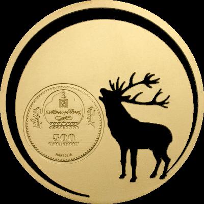 Mongolia - 2017 - 500 Togrog - Mongolian Nature Roaring Deer