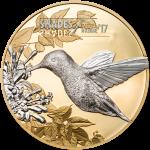 Cook Islands - 2017 - 5 Dollars - Shades of Nature HUMMINGBIRD