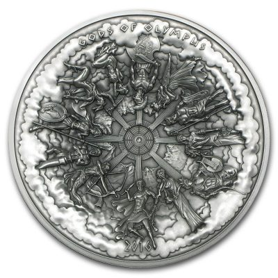 Cook Islands - 2016 - 25 Dollars - Gods of Olympus Kilo Silver Coin