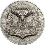 Cook Islands - 2017 - 10 Dollars - Thor's Hammer Mjöllnir