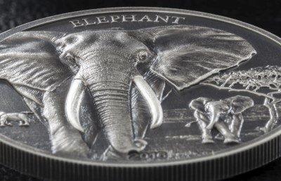 Tanzania - 2016 - 1000 Shillings - Elephant High Relief (incl box) (ANTIQUE)