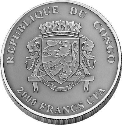 Congo - 2017 - 2000 Francs - Kodiak Bear Nature's Eye