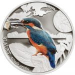 Andorra - 2014 - 5 Diners - Colorfull Birds EUROPEAN KINGFISHER (including box) (PROOF)