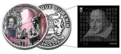 Benin - 2014 - 1000 Francs - Nano ROMEO AND JULIET (PROOF)