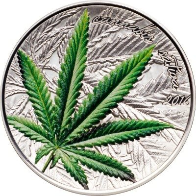 Benin - 2016 - 1000 Francs - Cannabis Sativa High Relief (including box) (PROOF)