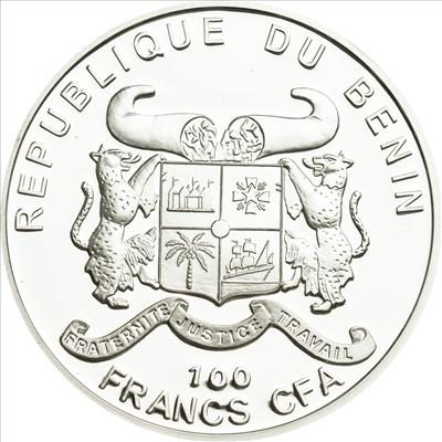 Benin - 2011 - 100 Francs - Plants of the World LILLY OF THE VALEY (PROOF)