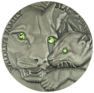 Niue - 2016 - 1 Dollar - Wildlife Family BLACK PUMA