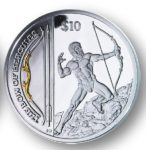 British Virgin Islands - 2013 - 10 dollar - Legendary Weapons THE BOW OF HERCULES (PROOF)