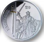 British Virgin Islands - 2013 - 10 dollar - Legendary Weapons EXCALIBUR (PROOF)