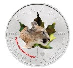 Canada - 2014 - 5 Dollars - Animal Maple Leaf PUMA  (PROOF)