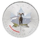 Canada - 2014 - 5 Dollars - Animal Maple Leaf BIGHORN SHEEP (PROOF)