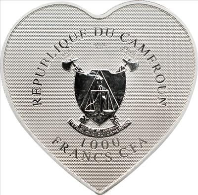 Cameroon - 1000 Francs CFA - Heart of Love (including box) (BU)