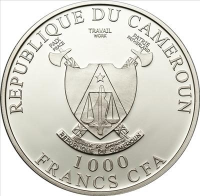 Cameroon - 2011 - 1000 Francs - Butterfly 3D-Papillons Exotique (butterfly is 3D on the coin) (PROOF)