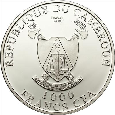 Cameroon - 2011 - 1000 Francs - L'Amour toujours Swans (PROOF)