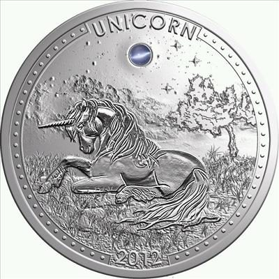 Cameroon - 2012 - 1000 Francs - Unicorn with crystal insert (PROOF)