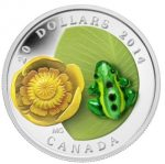 Canada - 2014 - 20 Dollar - WaterLily & Leopard Frog (PROOF)