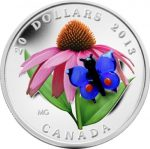 Canada - 2013 - 20 Dollars - Purple Coneflower with Venetian Glass Butterfly SILVER (PROOF)