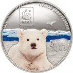 Central African Rep. - 2015 - 100 Francs CFA - WWF 2015 POLAR BEAR (including box) (PROOF)