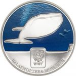 Central African Rep. - 2015 - 100 Francs CFA - WWF 2015 BLUE WHALE (including box) (PROOF)
