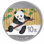 China - 2014 - 10 Yuan - Panda (coloured 1oz ag) (PROOF)