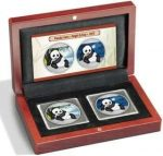 China - 2015 - 2 x 10 Yuan - Silver Panda Set DAY & NIGHT (PROOF)