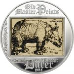 Cook Islands - 2013 - 5 Dollars - Albrecht Dürer RHINOCEROS (including box) (PROOF)