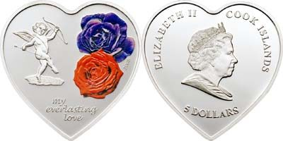 Cook Islands - 2008 - Everlasting Love Heart Shaped (PROOF)