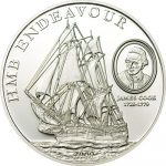 Cook Islands - 2009 - 5 Dollars - HMB Endeavour of James Cook (PROOF)