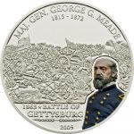Cook Islands - 2009 - 5 Dollars - Great Battles & Commanders G. MEADE GETTYSBURG (PROOF)