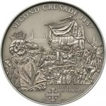 Cook Islands - 2010 - 5 Dollars - History of the Crusades 2nd Crusade LOUIS VII FRANCE (ANTIQUE)