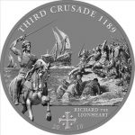 Cook Islands - 2010 - 5 Dollars - History of the Crusades 3rd Crusade RICHARD LIONHEART (ANTIQUE)