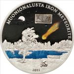 Cook Islands - 2011 - 5 Dollars - The Muonionalusta Meteorite (PROOF)