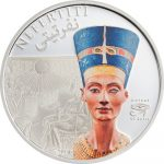 Cook Islands - 2013 - 5 Dollars - History of Egypt NEFERTITI (including box) (PROOF)