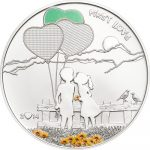Cook Islands - 2014 - 5 Dollars - Paint Your Coin FIRST LOVE (PROOF)