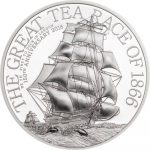 Cook Islands - 2016 - 2 Dollars - The Great Tea Race 1/2 oz (including box) (PROOF)