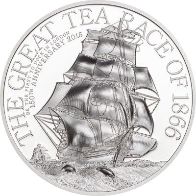 Cook Islands - 2016 - 5 Dollars - The Great Tea Race 1oz (including box) (PROOF)
