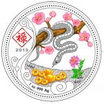 Congo - 2013 - 240 Francs - Year of the Snake LU (PROOF)