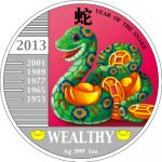 Congo - 2013 - 240 Francs - Year of the Snake WEALTHY SNAKE (PROOF)