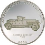 Congo - 2002 - 10 Francs - Hispano Suiza 1919 (PROOF)