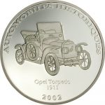 Congo - 2002 - 10 Francs - Opel Torpedo 1911 (PROOF)