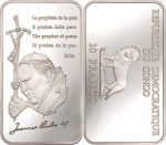 Congo - 2004 - 10 Francs - KMnew Pope Prophet of Peace (PROOF)
