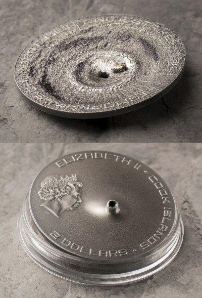 Cook Islands - 2016 - 2 Dollars - Tamdakht Meteorite Strike (including box) (ANTIQUE)