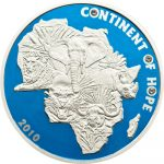 Ivory Coast - 2010 - 1000 Francs - Continent of Hope BIG FIVE (PROOF)